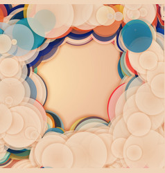 Array of colorful circles with vector