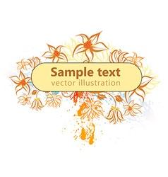Autumn Floral Signage vector