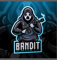 bandit esport mascot logo design vector image