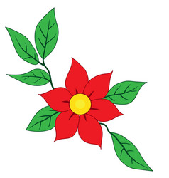 big red flower vector image