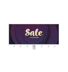 Billboard with volumetric text sale on luxury vector