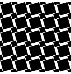 Black and white seamless geometric square pattern vector
