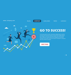 business landing page successful people vector image