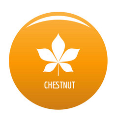 Chestnut leaf icon orange vector