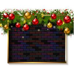 christmas frame made christmas tree vector image