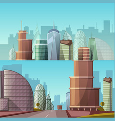 cityscape city and nature vector image