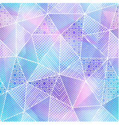 cold color triangle pattern vector image