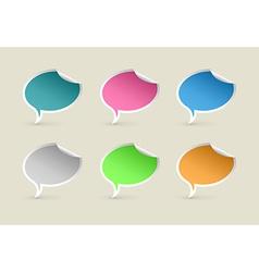 Colorful Paper Speech Bubbles vector image