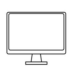 computer icon cartoon isolated black and white vector image