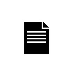 contract document flat icon vector image