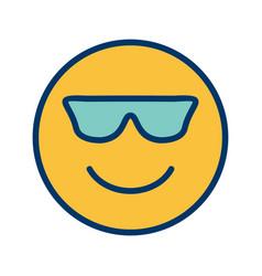 Cool emoji icon vector