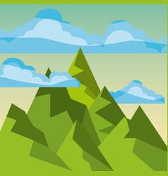 Cool relaxing landscape vector