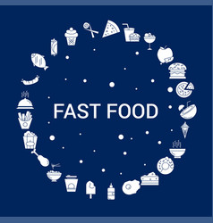 creative fast food icon background vector image