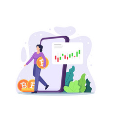 cryptocurrency marketplace vector image