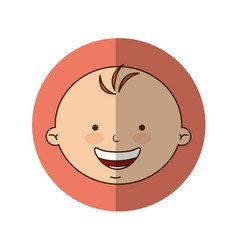 Cute baby boy character vector
