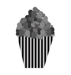 Delicious pop corn isolated icon vector