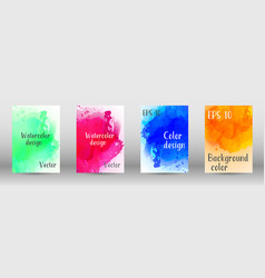 Design cover with a picture of watercolor spray vector