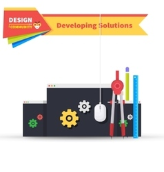 Developing Solution Design Flat vector