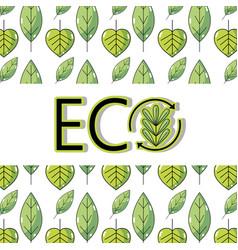 Ecology leaves background decoration design vector