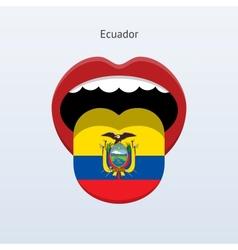 Ecuador language abstract human tongue vector