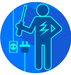 Electric blue vector image