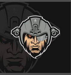 Elite army e sport logo vector