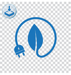 Energy saving icon for web and mobile vector