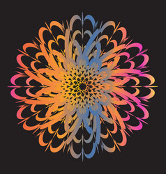 Ethnic floral colorful tribal circle mandala vector