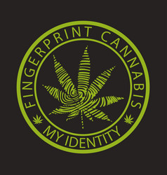 Fingerprint cannabis-marijuana vector