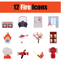 Fire icon set vector