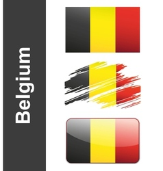Flag belgiumin vector