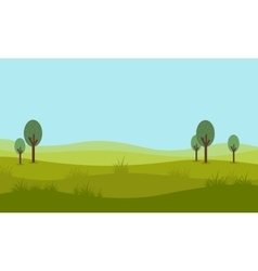 Flat design of nature landscape vector image