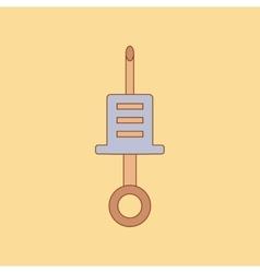 flat icon on background Kids toy syringe vector image