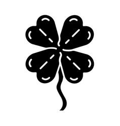 Four-leaf clover glyph icon vector