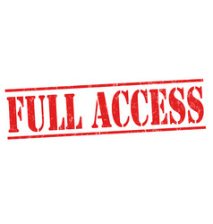 Full access sign or stamp vector