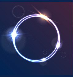 glowing luminous neon ring shiny template vector image