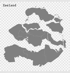 High quality map is a province netherlands vector