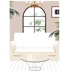 Home Couch Interior vector image