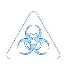 Icon of biohazard vector
