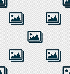 images jpeg photograph icon sign Seamless pattern vector image