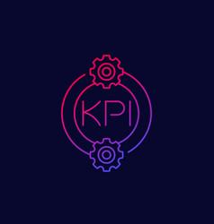 kpi icon linear design vector image
