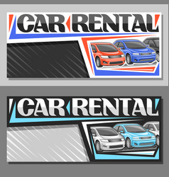 layouts for car rental vector image