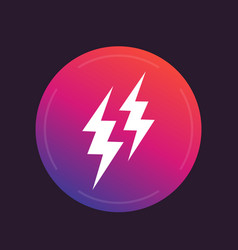 lightning bolts icon vector image