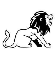 Lion Line Art vector image