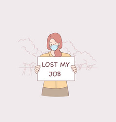 Losing job during pandemic times concept vector