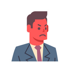 Male angry emotion icon isolated avatar man facial vector