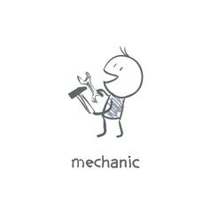 mechanic vector image