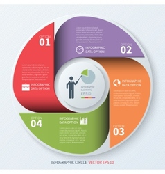 Modern business infographics circle Origami style vector