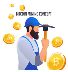modern concept of digital crypto mining vector image