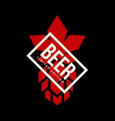 modern craft beer drink logo sign for bar pub or vector image